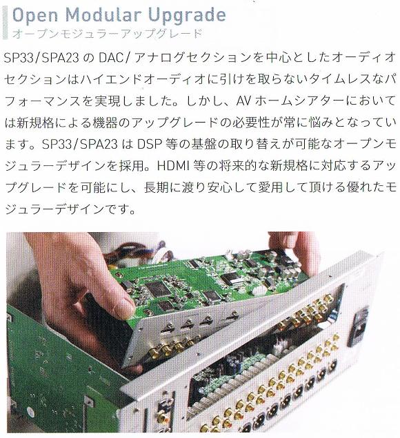 SP33 オープンモジュラーアップグレード